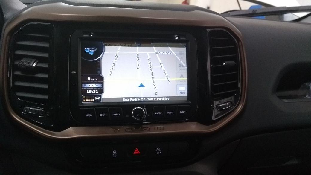Central Multimidia Fiat Toro -  Com DVD GPS Mapa Bluetooth MP3 USB Ipod SD Card Câmera de Ré Grátis - M1