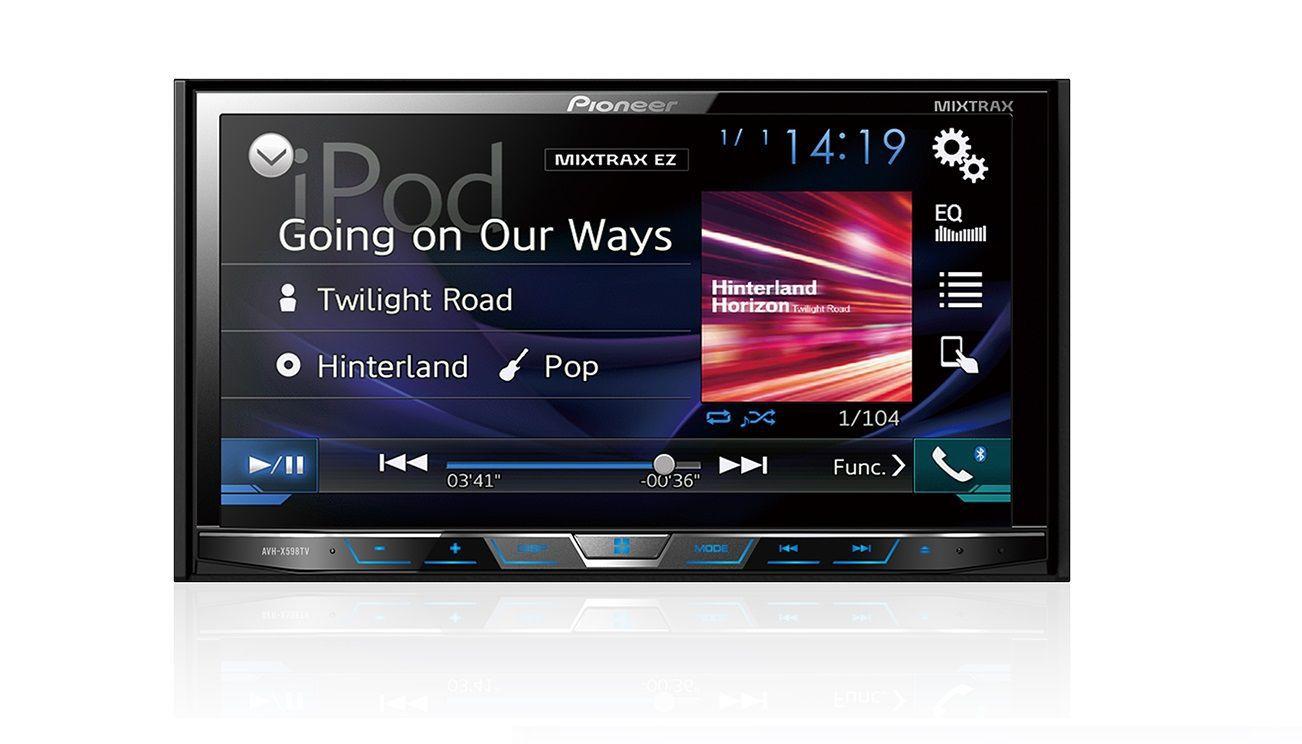 Central Multimidia Fiat Toro - Pioneer AVH-A5180TV + Interface de Volante + Moldura 2 Din -  Com DVD GPS Wase Mapa Bluetooth MP3 USB Ipod SD Card Câmera de Ré Grátis