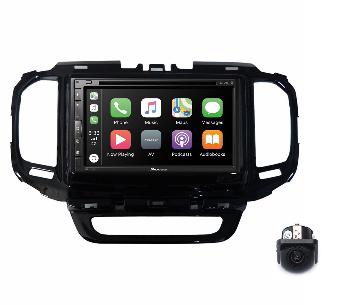 Central Multimidia Fiat Toro - Pioneer AVH-A5280TV + Interface de Volante + Moldura 2 Din -  Com DVD GPS Wase Mapa Bluetooth MP3 USB Ipod SD Card + Câmera de Ré Grátis