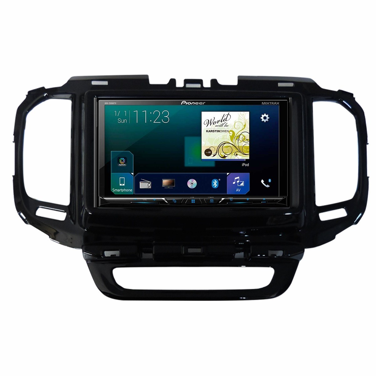 Central Multimidia Fiat Toro - Pioneer AVH-A4180TV + Interface de Volante + Moldura 2 Din -  Com DVD GPS Wase Mapa Bluetooth MP3 USB Ipod SD Card Câmera de Ré Grátis