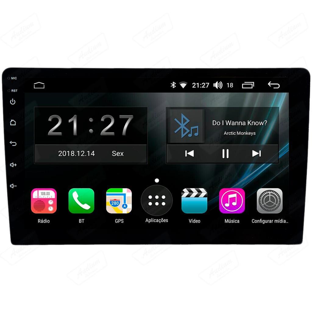 Central Multimidia Ford Focus  2014 / 2015 - Aikon Atom Tela 9 Polegadas - TV Digital GPS Bluetooth MP3 USB - 2 Câmera de Ré + Frontal - Sistema Android 8.1