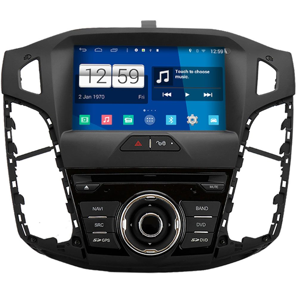 Central Multimidia Ford Focus  2014 / 2018 -  S160 - Android + Camera de ré -  Espelhamento DVD GPS Mapa Bluetooth MP3 USB Ipod SD Card Câmera Ré Grátis