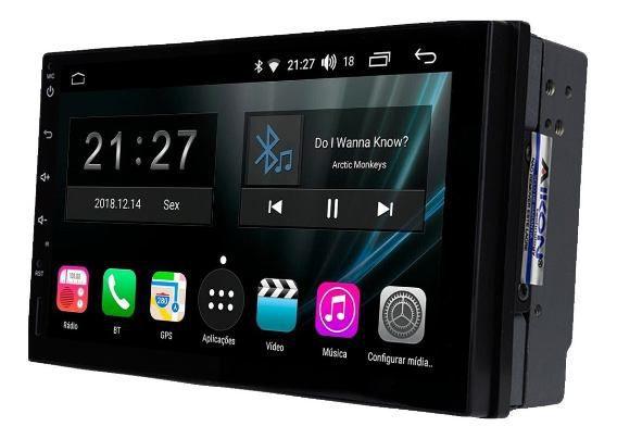 Central Multimidia Gm Onix / Prisma Joy 2016 2019 - Aikon Atom 7 pol  - Plataforma Android 8.1 - Bluetooth MP3 USB Ipod SD Card Câmera de Ré Grátis