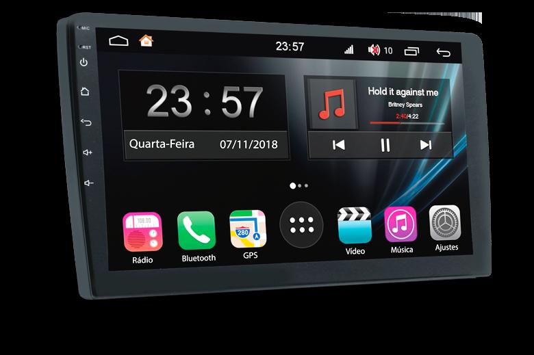 """Central Multimidia Honda City 2015 a 20120 Tela 7"""" Aikon Atom  - Android 8.1 Camera de ré + Frontal   Espelhamento TV  GPS Mapa Bluetooth MP3 USB"""