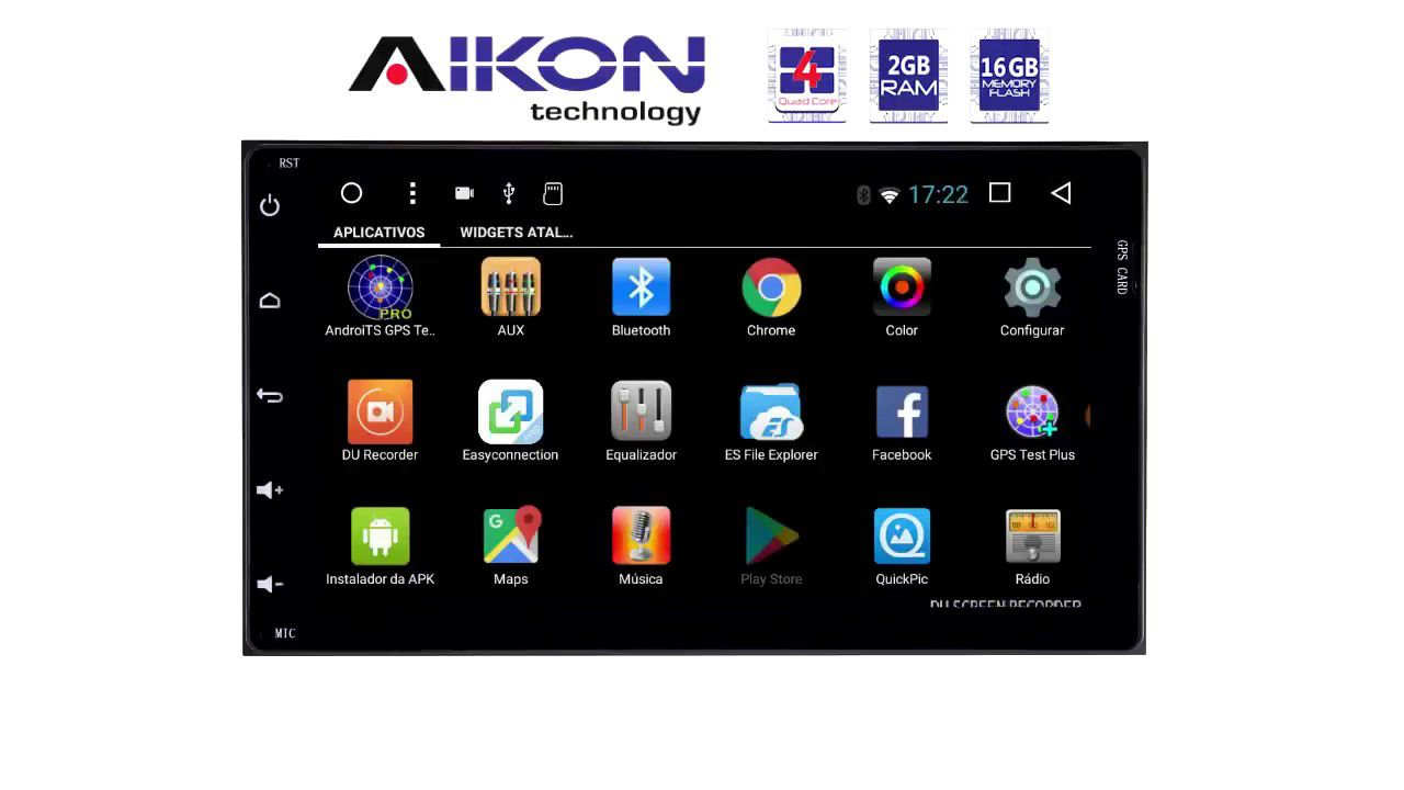"Central Multimidia Honda City 2015 a 2019  Tela 7"" Aikon 8.0 - Android + Camera de ré Espelhamento TV  GPS Mapa Bluetooth MP3 USB Ipod SD Card Câmera Ré Grátis"