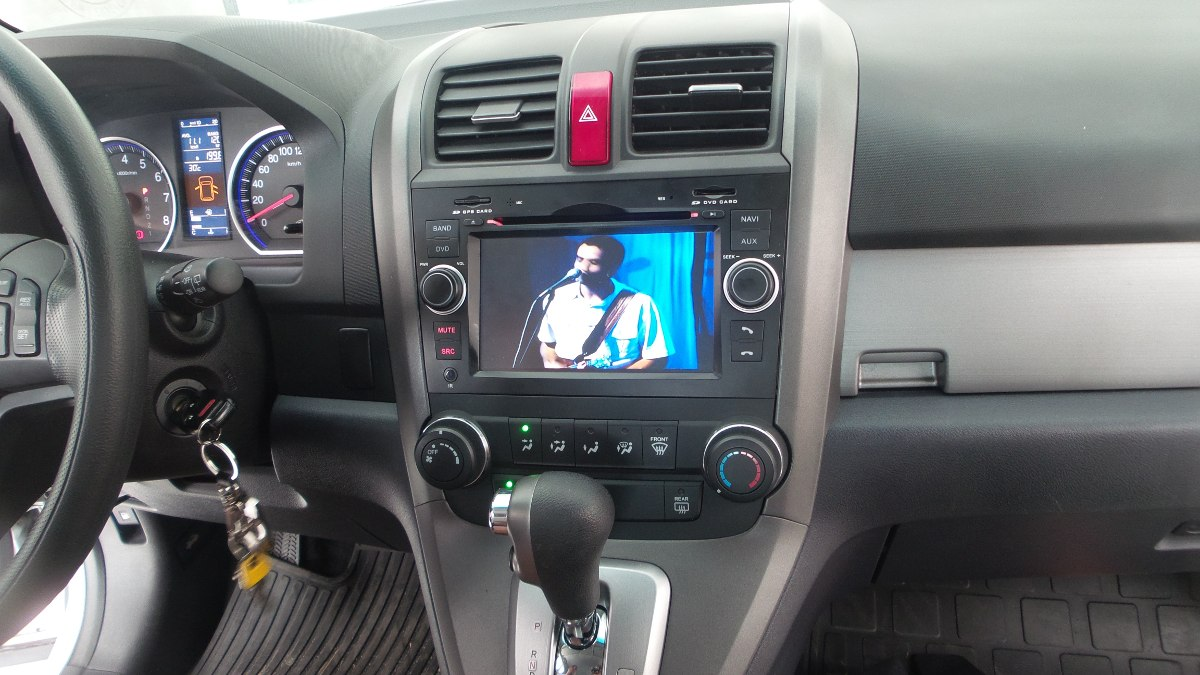Central Multimidia Honda CRV 2007 2008 2009 2010 2011 Com DVD GPS Mapa Bluetooth MP3 USB Ipod SD Card Câmera Ré Grátis