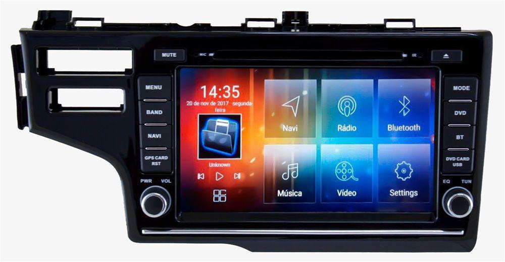 Central Multimidia Honda Fit 2018 2019  Aikon 8.0 - Android Tela 8 Pol . Espelhamento TV  GPS Mapa Bluetooth MP3 USB Ipod SD Card Câmera Ré Grátis
