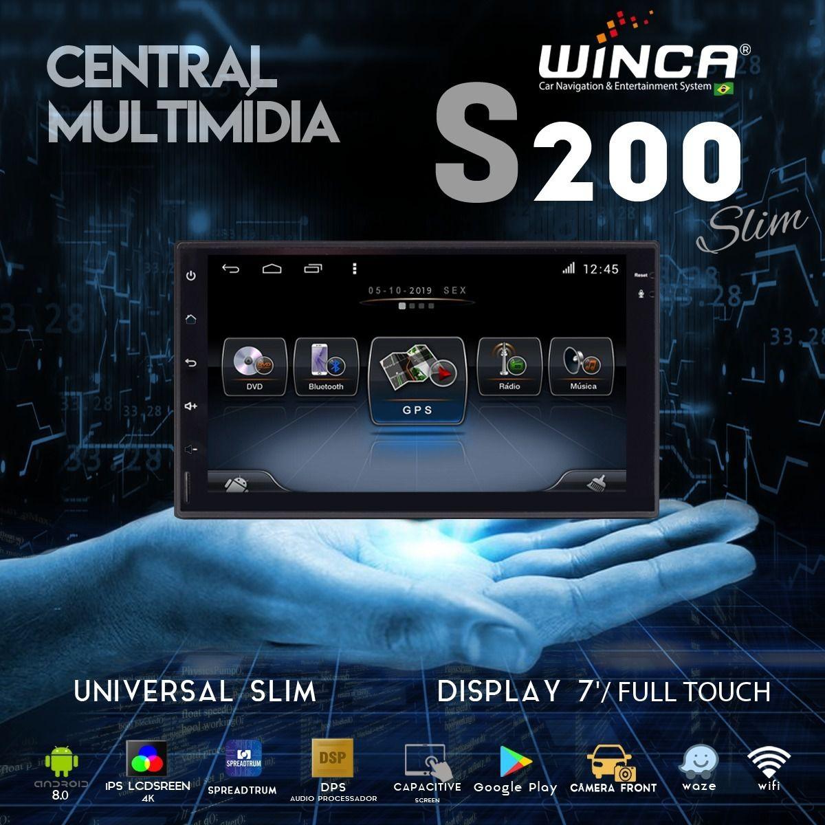 Central Multimidia Honda HRV 2016 a 2020 Winca Tela 9 polegas  - Waze Spotify youtube - 2 cameras Ré + Frontal - TV  Digital - GPS Integrado -  Bluetooth - 2 entradas USB - Android 9.0