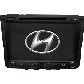Central Multimídia Hyundai Creta Tela 8 polegadas -  S200+  Android 8.0 - 2 Câmeras Ré + Frontal -  TV Digital DVD GPS Bluetooth MP3 USB Ipod SD Card