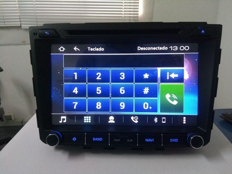 Central Multimidia Hyundai Creta Tela 8 polegadas - 5.0  Com DVD GPS Mapa Bluetooth MP3 USB Ipod SD Card Câmera de Ré Grátis