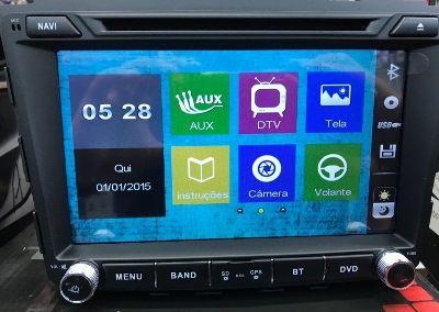 Central Multimidia Hyundai Creta Tela 8 Pol  - S95  PREMIUM - Com DVD GPS Mapa Bluetooth MP3 USB Ipod SD Card Câmera de Ré Grátis