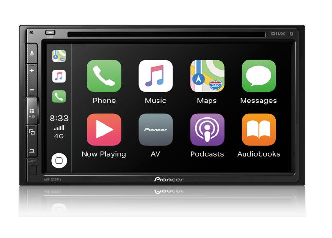"""Central Multimidia Hyundai Pioneer Tela 6,9"""" Leitor DVD - AVH Z5280TV + Moldura de Painel 2 Din + Câmera de Ré"""