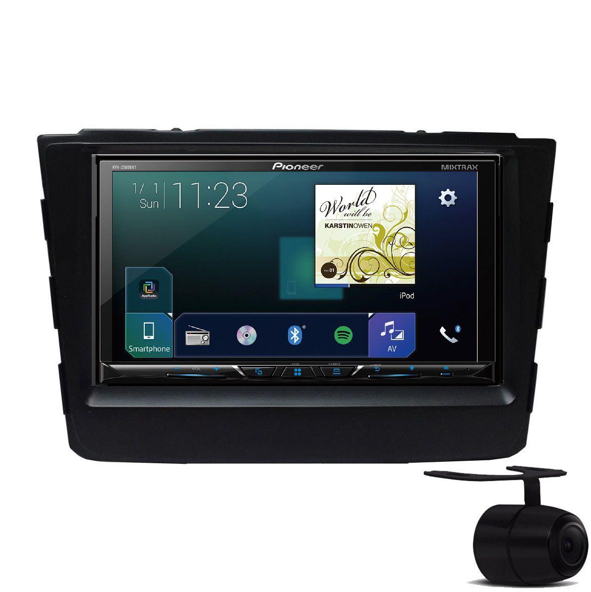 Central Multimidia Hyundai Creta 2017 2019 -  DVD Pioneer AVH Z5180TV + Moldura de Painel 2 Din + Câmera de Ré