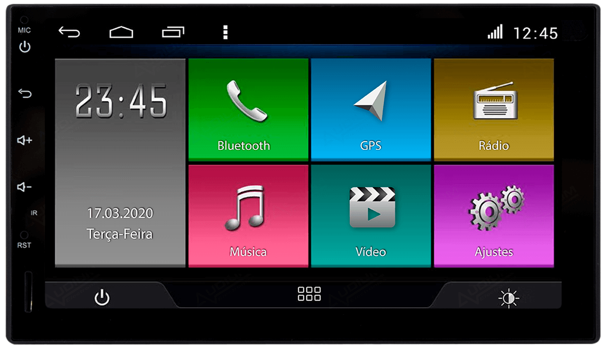 "Central Multimidia Hyundai Creta  Aikon ATOM x7 - Tela 7"" - Android 8.1 TV- Digital GPS Waze Spotify - Bluetooth - 2 entr. Usb - 2 Câmeras: Ré + Frontal"
