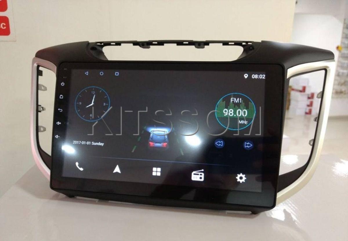"""Central Multimidia Hyundai Creta Hetzer Tela 10"""" - Android + Camera de ré -  Espelhamento TV GPS Mapa Bluetooth MP3 USB Ipod SD Card Câmera Ré Grátis"""