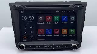 Central Multimídia Hyundai Creta Tela 8 polegadas -  300+  Android 8.0 - 2 Câmeras Ré + Frontal -  TV Digital FULL HD - DVD GPS Bluetooth MP3 USB Ipod SD Card