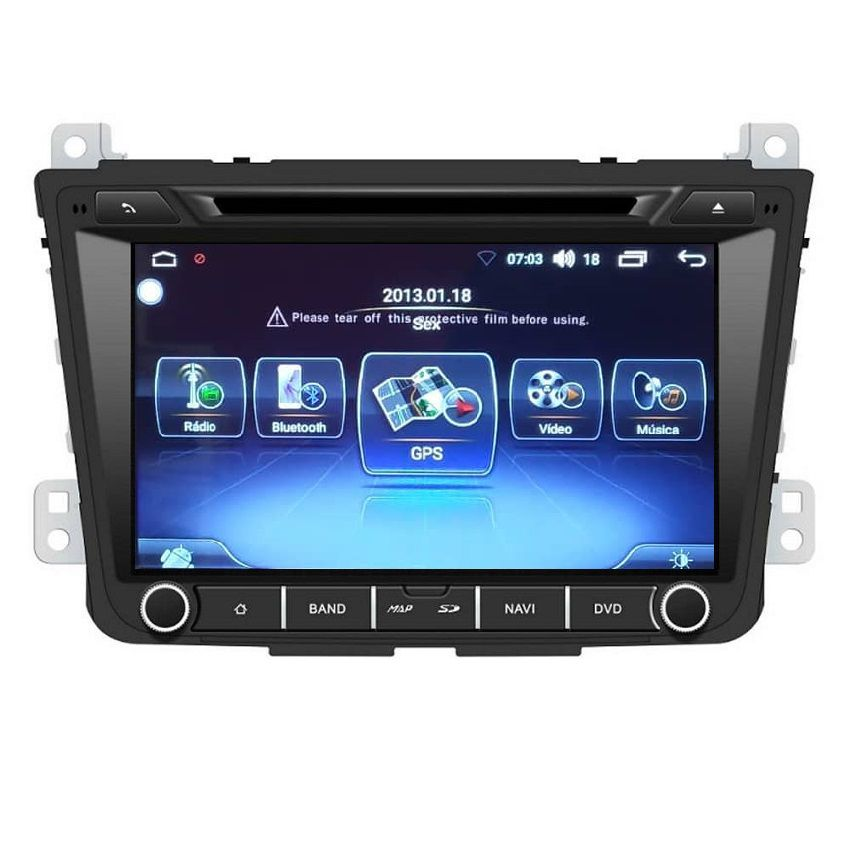 Central Multimidia Hyundai Creta Winca S200+  Tela 8 pol - Waze Spotify - 2 cameras Ré + Frontal - TV  Digital - GPS Integrado -  Bluetooth - 2 entradas USB - Android 9.0