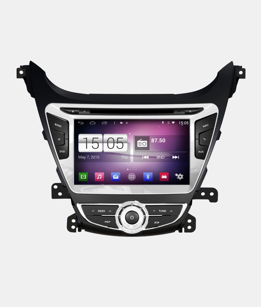 Central Multimidia Hyundai Elantra 2014 a 2016 s160 -  Com DVD GPS Mapa Bluetooth MP3 USB Ipod SD Card Câmera Ré Grátis
