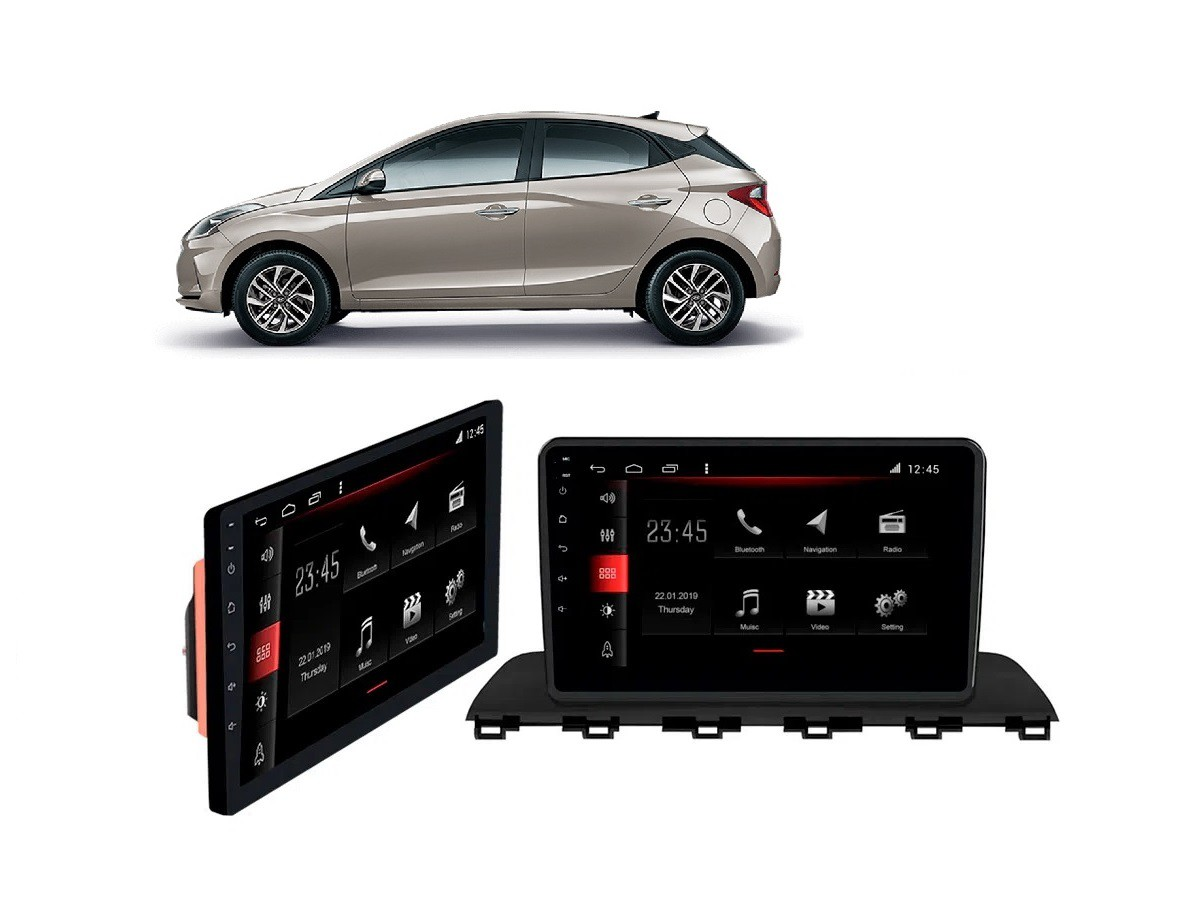 Central Multimidia Hyundai HB20 - 2020 2021  - Winca Tela 9 polegas  - Waze Spotify youtube - 2 cameras Ré + Frontal - TV  Digital - GPS Integrado -  Bluetooth - 2 entradas USB