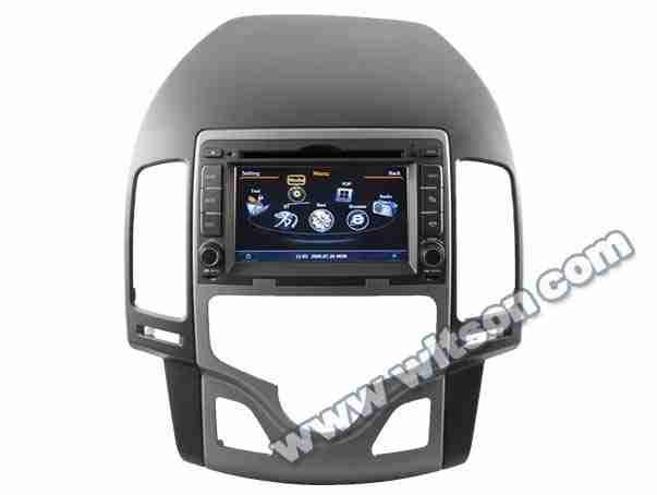 Central Multimídia Hyundai I30 2009 a 2012 - Painel A/C Digital DVD GPS Mapa Bluetooth MP3 USB + Ipod Sd Card Câmera Ré Grátis - Winca