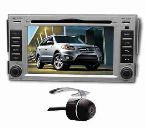Central Multimidia Hyundai Santa fé 2007 à 2013 Com DVD GPS Mapa Bluetooth MP3 USB Ipod SD Card  Câmera Ré Grátis - Winca