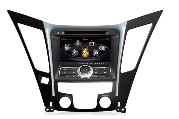 Central Multimídia Hyundai Sonata 2011 2012 2013 2014 2015 2016 Com DVD GPS Mapa Bluetooth MP3 USB TV Digital Ipod SD Card Câmera Ré Grátis - Winca