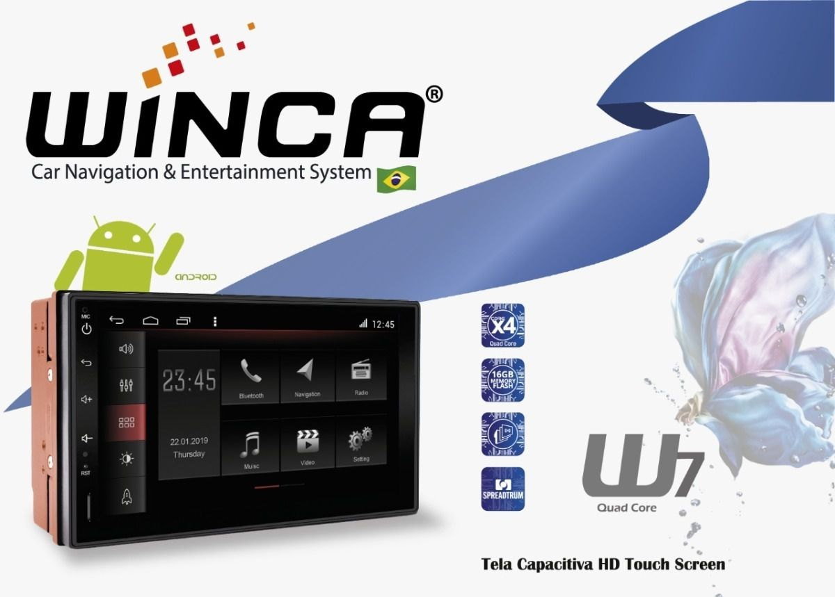 Central Multimidia Hyundai Tucson 2007 a 2015  - Winca Smart  - Waze Spotify youtube - 2 cameras Ré + Frontal - TV  Digital - GPS Integrado -  Bluetooth - 2 entradas USB - Android 8.1
