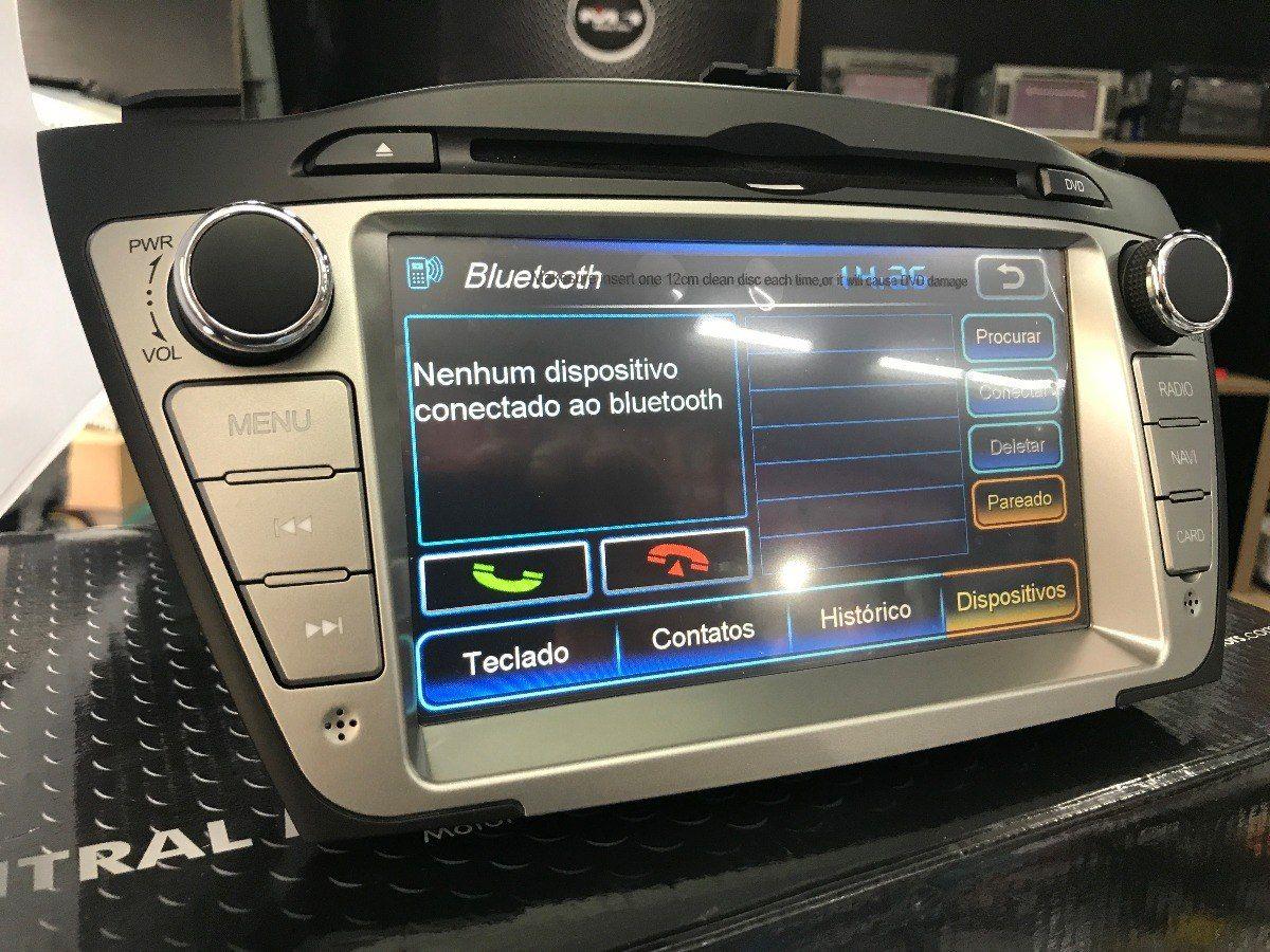 Central Multimidia IX35 2011 a 2018 -  Com DVD GPS Mapa Bluetooth MP3 USB Ipod SD Card Câmera de Ré Grátis - M1
