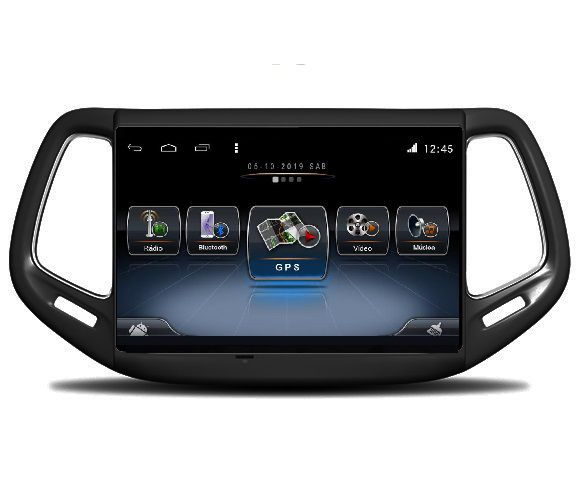 Central Multimidia Jeep Compass Winca S200+  Tela 10 pol - Waze Spotify - 2 cameras Ré + Frontal - TV  Digital - GPS Integrado -  Bluetooth - 2 entradas USB - Android 9.0