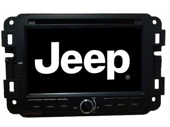 Central Multimidia Jeep Renegade Com DVD GPS Mapa Bluetooth MP3 USB Ipod SD Card Câmera de Ré Grátis - M1