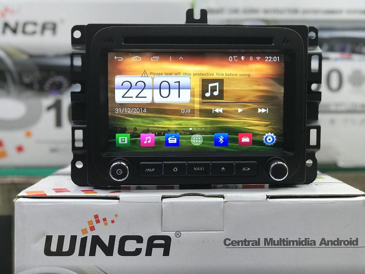 Central Multimidia  Jeep Renegade Winca - Plataforma Android Com DVD GPS Mapa Bluetooth MP3 USB TV Digital Ipod SD Card Câmera de Ré - s160