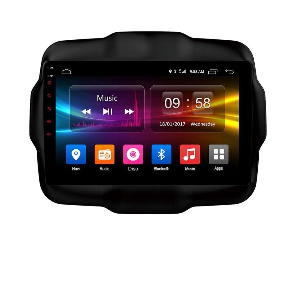 CENTRAL MULTIMIDIA  JEEP RENEGADE S300+ Plataforma Android 8.1 TV FULL HD - BLUETOOTH MP3 USB - CÂMERA DE RÉ