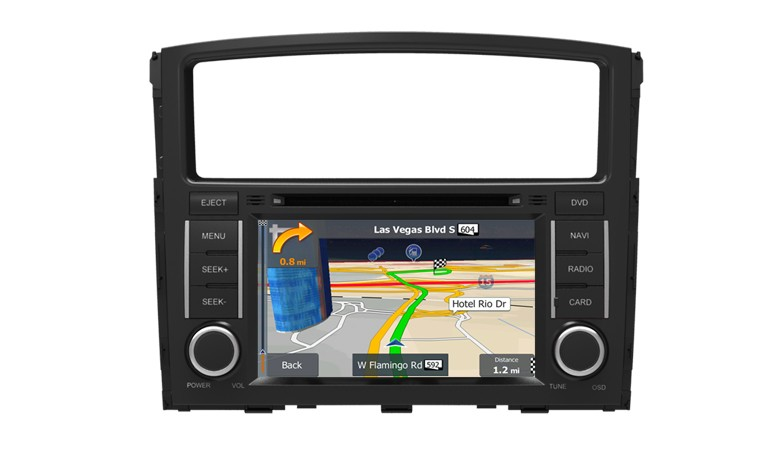 Central Multimídia Mitsubish Pajero Full 2007 à 2012 Com DVD GPS Mapa Bluetooth MP3 USB Ipod SD Card Câmera Ré Grátis - Winca