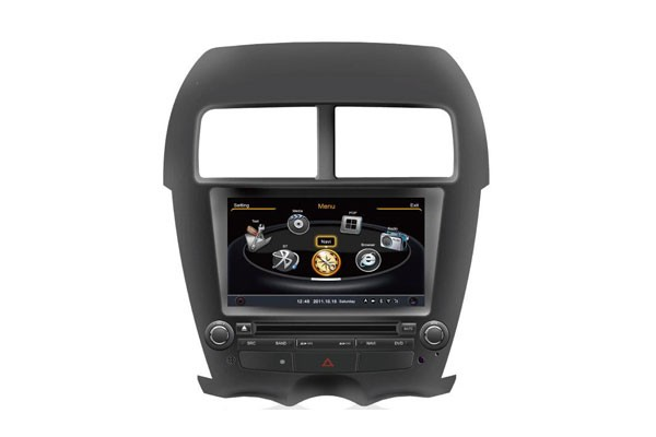 Central Multimidia Mitsubishi ASX 2010 2011 2012 2013 2014 2015 2016 Com DVD GPS Mapa Bluetooth MP3 USB Ipod SD Card Câmera Ré Grátis - Winca