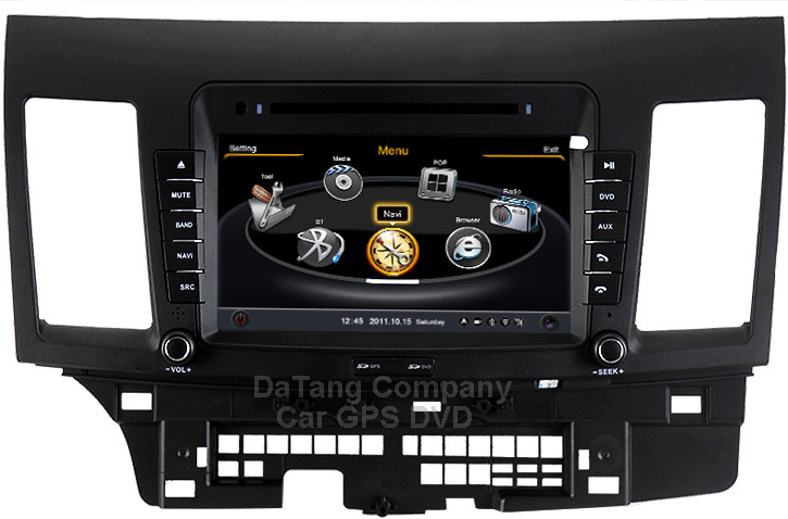 Central Multimidia Mitsubishi Lancer 2012 2013 2014 2015 2016 Com DVD GPS Mapa Bluetooth MP3 USB Ipod SD Card Câmera Ré Grátis - winca