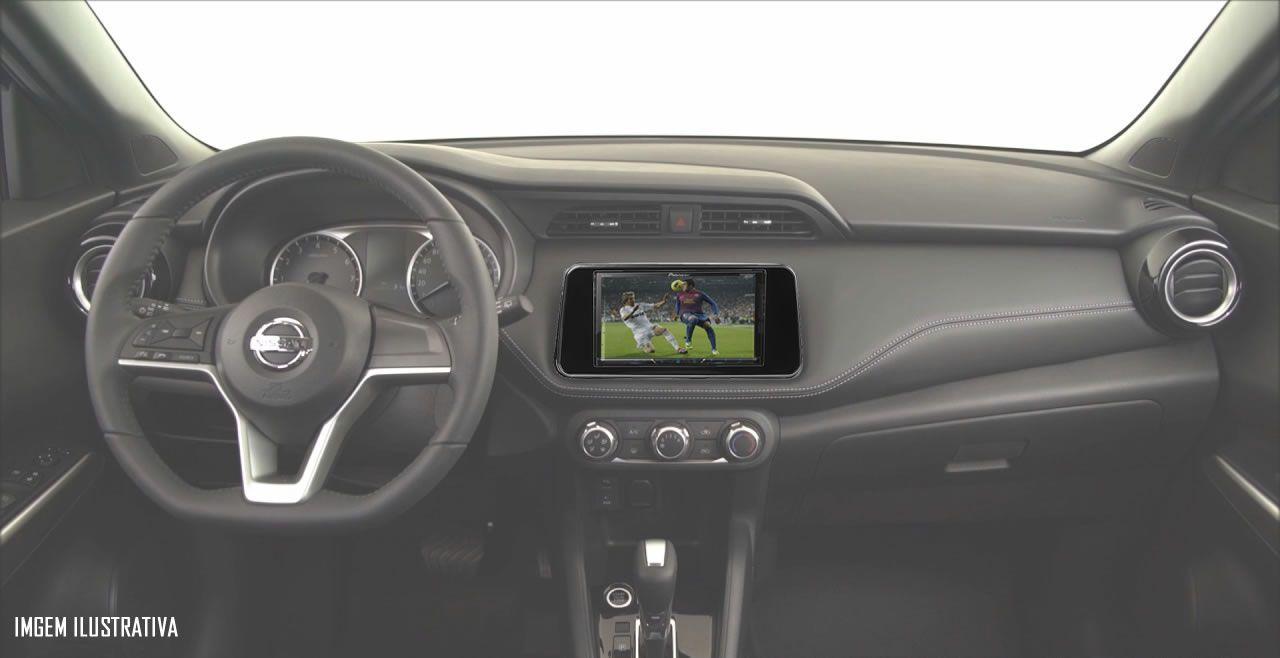 Central Multimidia Nissan Kicks 2017 2018 - Kit Combo DVD Pioneer AVH-A208BT + Moldura de Painel 2 Din + Câmera de Ré Nissan Kicks Versão S