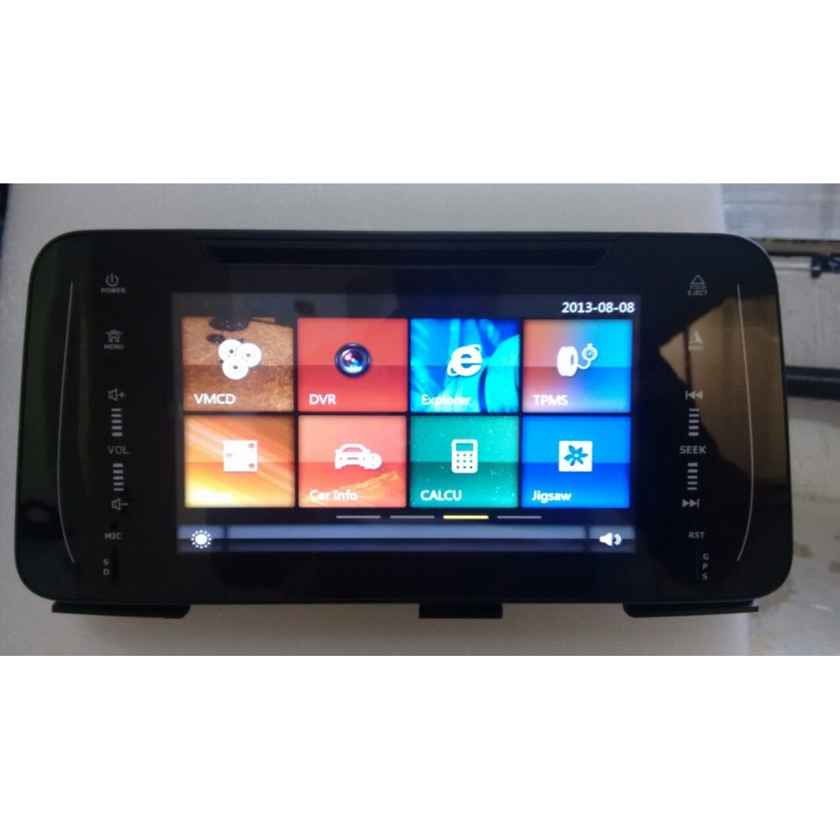 "Central Multimidia Nissan Kicks 2017 2018 - TELA 8 ""  Camera de ré Espelhamento DVD GPS Mapa Bluetooth MP3 USB Ipod SD Card Câmera Ré Grátis -  HETZER"