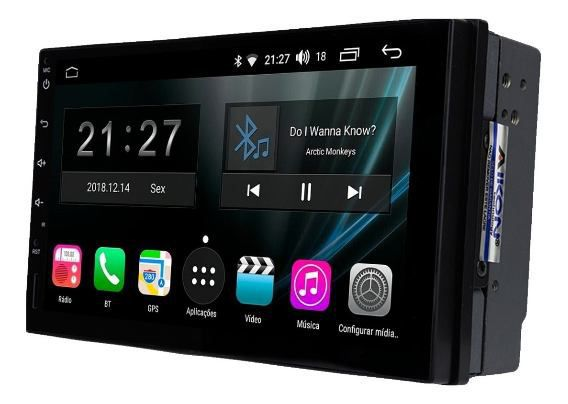 Central Multimidia Nissan Kicks 2017 2020 - Aikon Atom  - Android 8.1 - 2 Cameras ré + Frontal  - Bluetooth MP3 USB Ipod