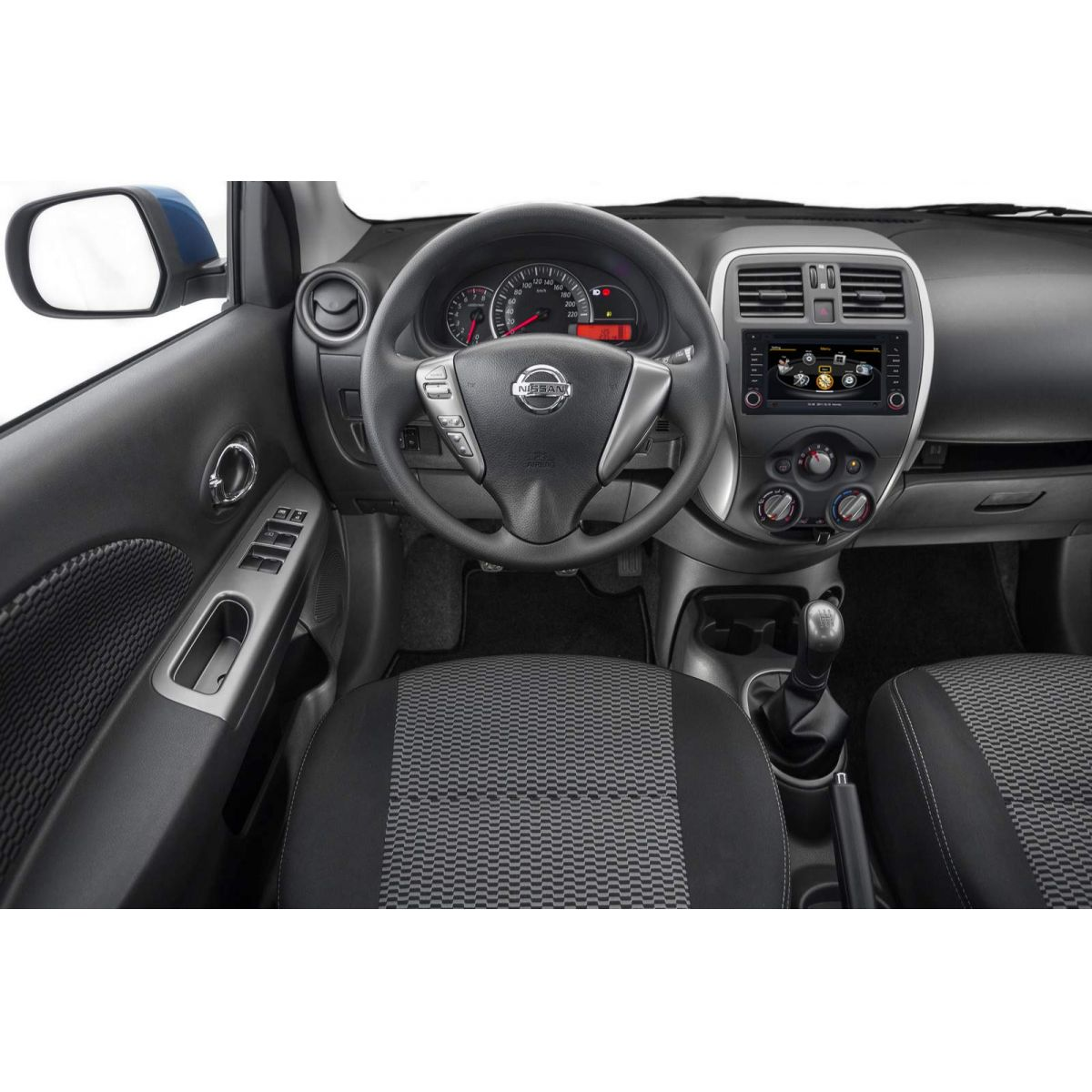 Central Multimidia Nissan March 2014 á 2019   e  Versa 2015 2017 2018 2019 Com DVD GPS Mapa Bluetooth MP3 USB Ipod SD Card Câmera Ré Grátis - Preta - Winca