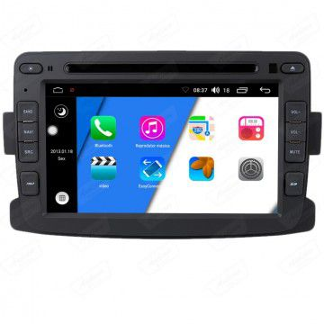 Central Multimidia Renault Captur Duster Aikon - X-Droid 7 Polegadas + TV FUll -  Espelhamento DVD GPS Mapa Bluetooth MP3 USB Ipod SD Card Câmera Ré + Frontal Grátis
