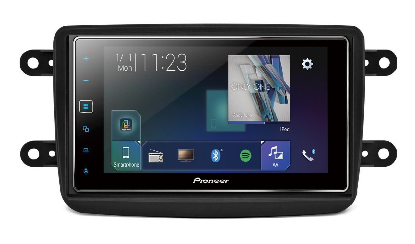 Central Multimidia Renault Captur Duster Oroch -  Pioneer sPH-138TV  Car Play - Espelhamento GPS Waze Bluetooth MP3 USB  + Câmera Ré Grátis