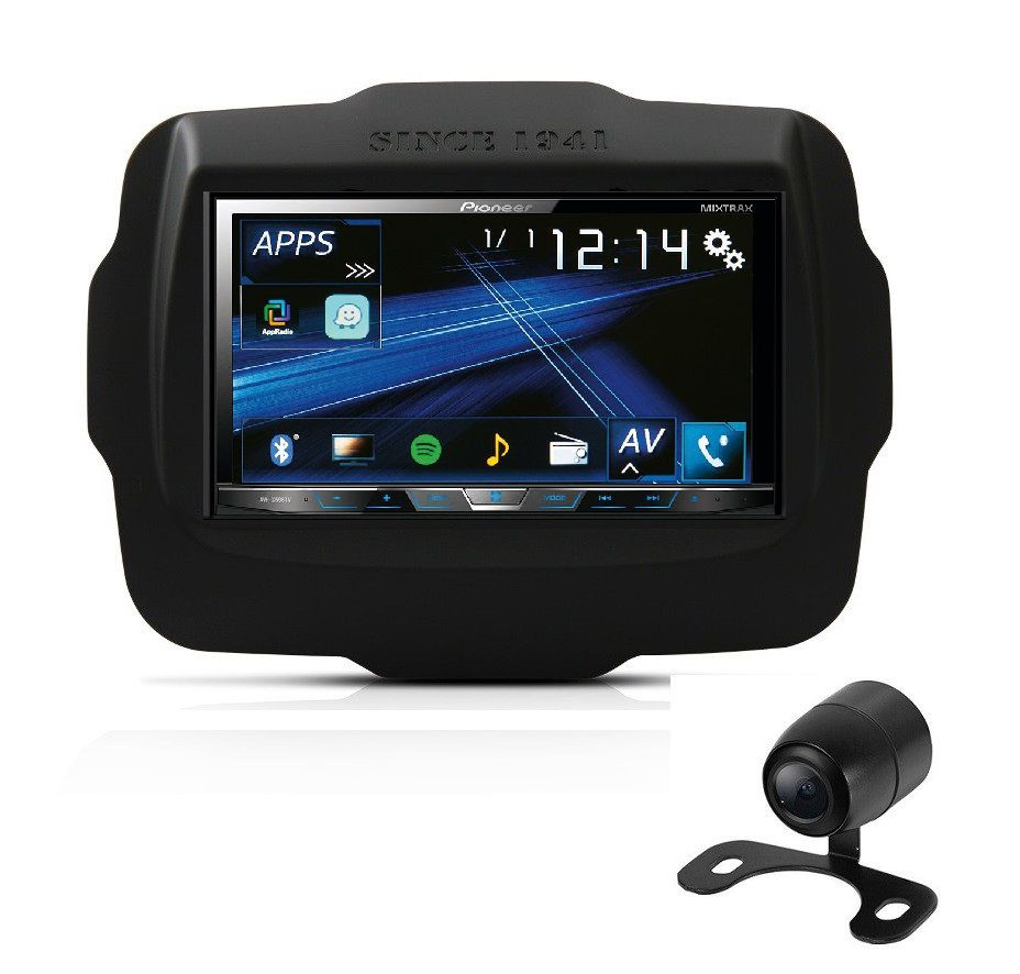 Central Multimidia Renegade - Pioneer AVH A5180TV+ Moldura 2 Din -  DVD GPS Wase Mapa Bluetooth MP3 USB Ipod SD Card Câmera de Ré Grátis