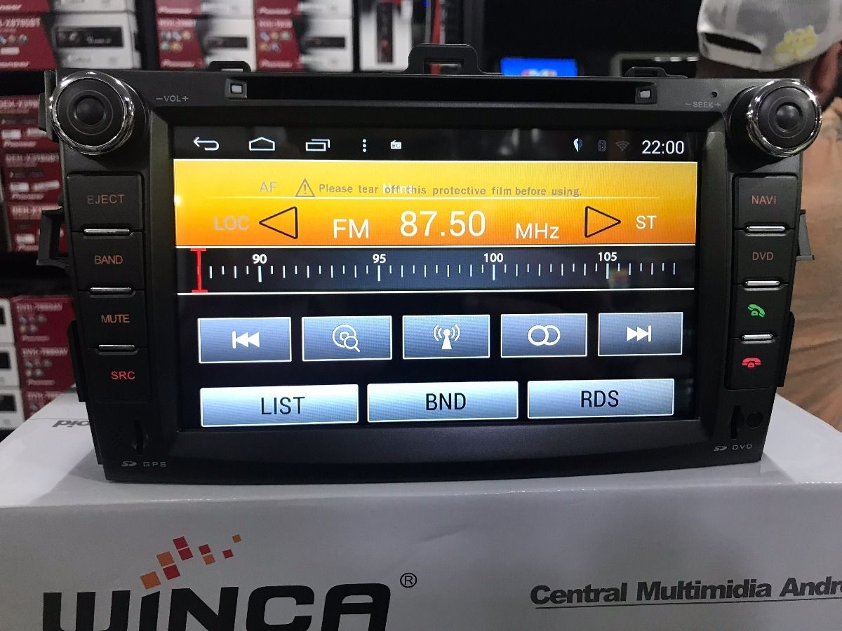 Central Multimidia Toyota Corolla 2008 á 2014 -  S160 - Android + Camera de ré -  Espelhamento DVD GPS Mapa Bluetooth MP3 USB Ipod SD Card Câmera Ré Grátis