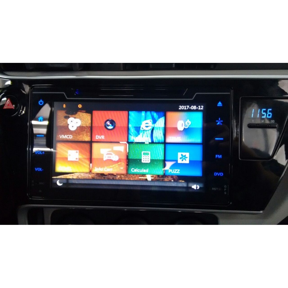 "Central Multimidia Toyota Corolla 2017 / 2018 GLI  - TELA 10""  Camera de ré Espelhamento DVD GPS Mapa Bluetooth MP3 USB Ipod SD Card Câmera Ré Grátis -  HETZER"