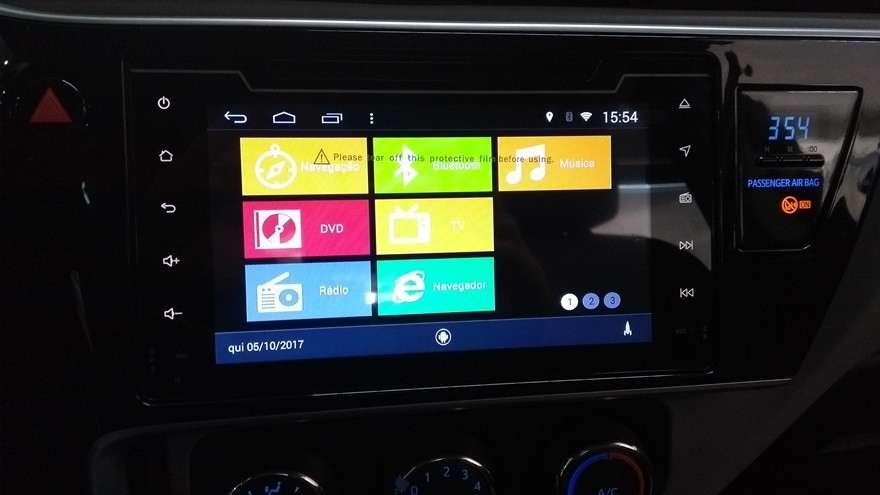 "Central Multimidia Toyota Corolla 2017 / 2019 - TELA 10""  S160 - Android + Camera de ré -  Espelhamento DVD GPS Mapa Bluetooth MP3 USB Ipod SD Card Câmera Ré Grátis"