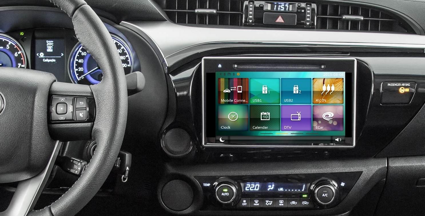 Central Multimidia Toyota HILUX 2016 á 2018 SRV SRX SR  - TELA 10