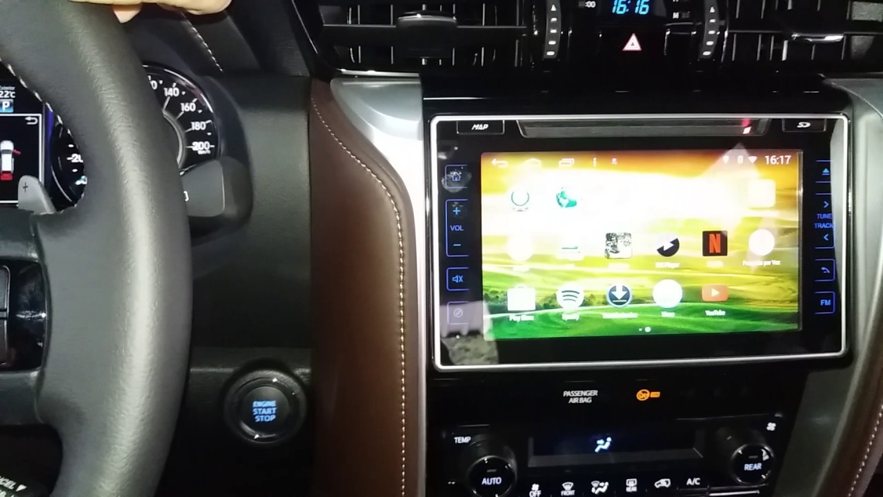 "Central Multimidia Toyota HILUX 2016 á 2019 SRV SRX SR  - TELA 10""  S160 - Android + Camera de ré -  Espelhamento DVD GPS Mapa Bluetooth MP3 USB Ipod SD Card Câmera Ré Grátis"