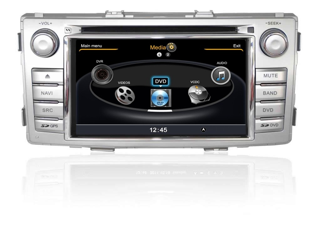 Central Multimidia Toyota Hilux Diesel e SW4 2012 2013 2014 2015 2016 Com DVD GPS Mapa Bluetooth MP3 USB Ipod SD Card Câmera Ré Grátis - Winca