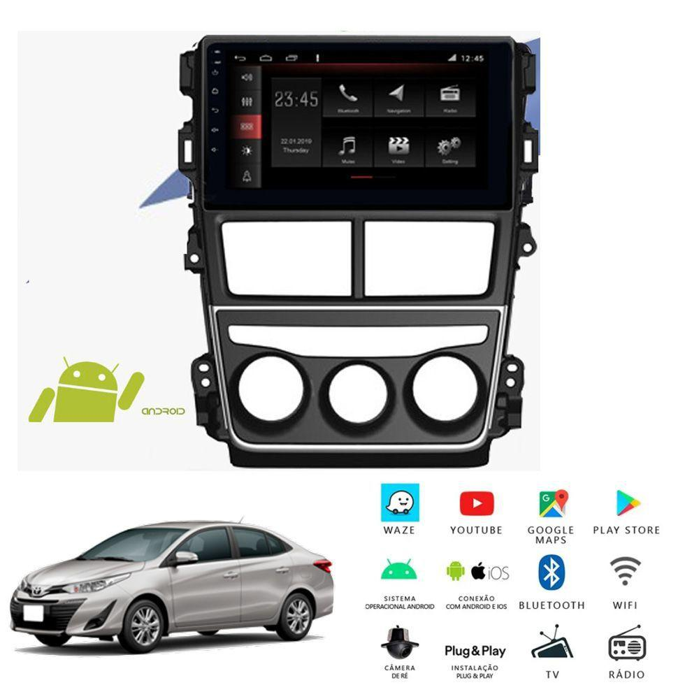 "Central Multimidia Toyota Yaris Hatch Sedan Tela 7"" POL - Winca W - Android 8.1-  Espelhamento GPS Mapa Bluetooth MP3 USB Ipod SD Card Câmera Ré Grátis"