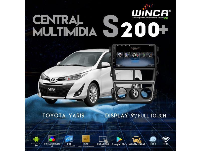 "Central Multimidia Toyota Yaris Hatch Sedan Tela 9"" Winca S200+  - Waze Spotify youtube - 2 cameras Ré + Frontal - TV  Digital - GPS Integrado -  Bluetooth - 2 entradas USB - Android 9.0"